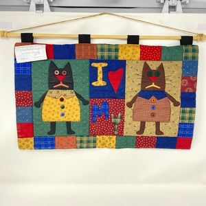Quilted Wall Hanging, I Love My Cats